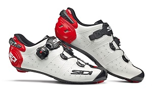 Sidi wire 2 carbon bianche-rosse